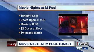 Movie night at the M Pool tonight - Video