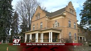 Local shelter receives gift of hot water - Video