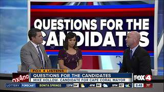 Mike Hollow, Cape Coral mayor candidate, answers Fox 4 viewer questions - Video