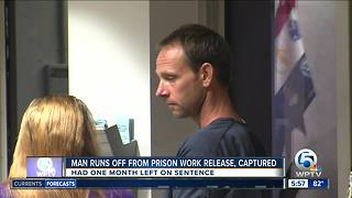 Inmate back in custody after leaving West Palm Beach Community Release Center - Video
