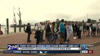 Lawmakers push for Hogan to sign clean energy jobs bill
