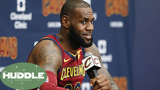 LeBron James Reveals What It Will Take to Keep Him in Cleveland -The Huddle - Video