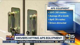 APS says distracted drivers are causing more power outages in the Valley - Video