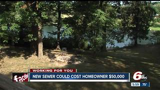 New sewer system could cost homeowner $50K - Video