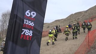 Firefighters climb Camel's Back in Boise to help fight cancer