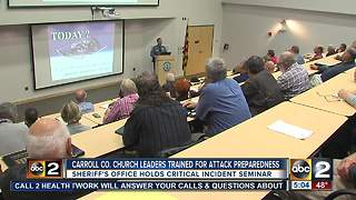 Carroll Co. church leaders undergo critical incident training - Video