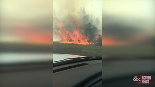 VIDEO: Smoky brush fire shuts down Gandy and I-275 in St. Pete