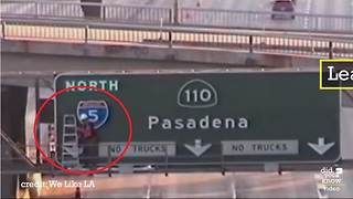 Artist hated Los Angeles highway signs, so he made his own - Video