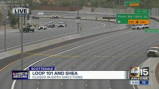 Loop 101 closed near Shea after deadly motorcycle collision - Video