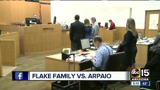 The Flake family is suing former Sheriff Joe Arpaio - Video