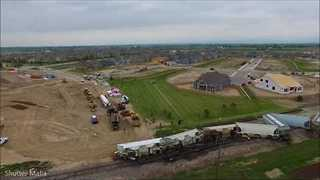 Drone Footage Shows Train Derailment in Timnath, Colorado - Video