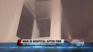 Apartment fire sends one to hospital