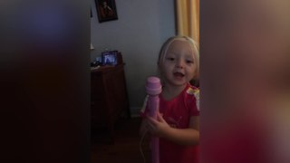 Adorable Little Girl Sings The