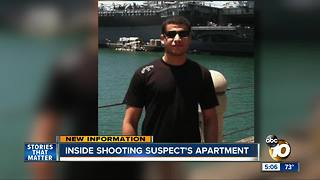 Inside shooting suspect's apartment