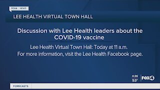 Lee Health holds virtual town hall