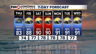 Increasing Rain Chances Thursday 10-4 - Video