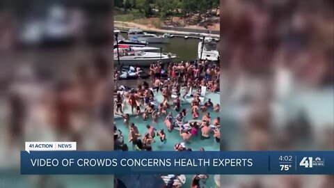 Video of crowds concerns KC area health experts