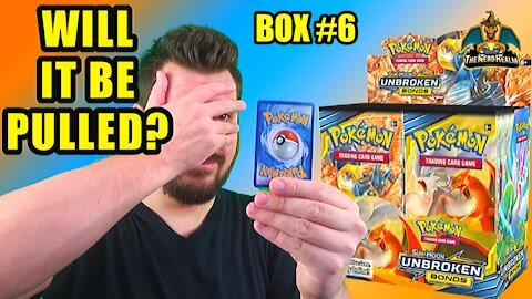 Pokemon Unbroken Bonds Booster Case Opening (Box 6) (Charizard Hunting)