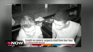 Caught on camera: suspects steal from tour boat - Video