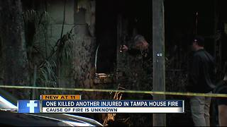 One person killed in house fire - Video