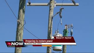 Preparing to restore power after Hurricane Irma