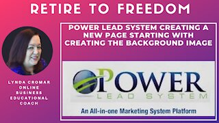 Power Lead System Creating A New Page Starting With Creating The Background Image
