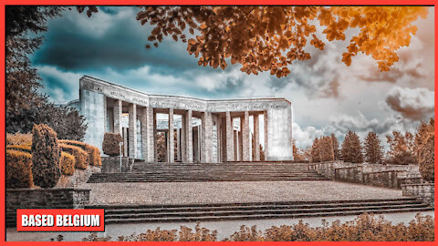 The Mardasson Memorial in Bastogne was build in the honour of the Americans who died during WW2
