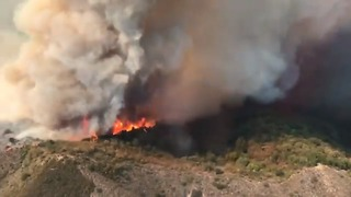 Holy Fire Burns Through Thousands of Acres in California - Video