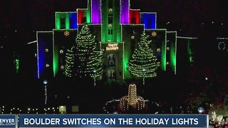 Holiday lights turned on in Boulder