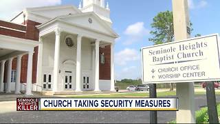 Seminole Heights Baptist Church taking security measures while police search for a killer - Video