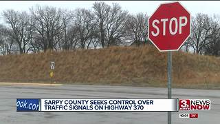 Sarpy County seeks control over traffic signals on Highway 370 - Video