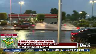 Storms hitting the Las Vegas valley - Video