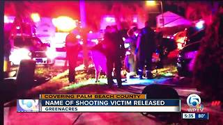 Name of Greenacres shooting victim released - Video