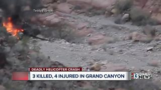 Helicopter crash survivors recovering in Las Vegas - Video