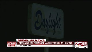 Two Claremore restaurants evacuated after carbon dioxide leak - Video