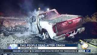 Two people killed in crash in Ocotillo Wells