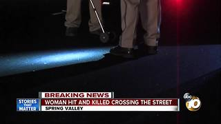 Woman hit and killed crossing Spring Valley street - Video