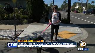 Woman warns of disturbing encounter with driver