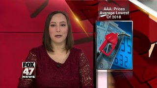 AAA Michigan: Gas prices average lowest of 2018