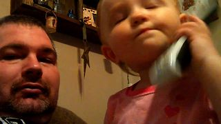 Baby Girl's Cute Argument With Dad - Video