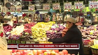 Oakland County requiring workers to wear masks on the job