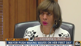 Mayor Catherine Pugh begins her first day with BOE meeting - Video