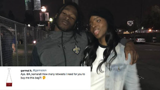 Saints RB Alvin Kamara's Sister Tricks Fans into Thinking She's a Groupie Looking for a Handout - Video