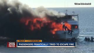 Passengers frantically tried to escape casino boat fire - Video