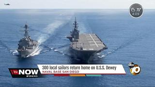 San Diego sailors return home on USS Dewey - Video