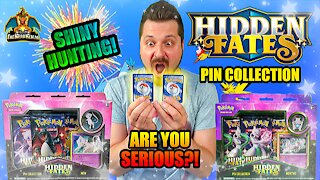 Hidden Fates Pin Collection Set 2 | Shiny Hunting | Pokemon Cards Opening