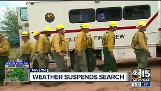 Weather suspends search for man missing in Payson flooding - Video