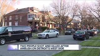 Woman leaps from window during Detroit shooting that left 2 dead - Video