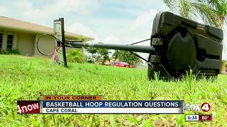 Resident upset about basketball hoop citation in Cape Coral - Video