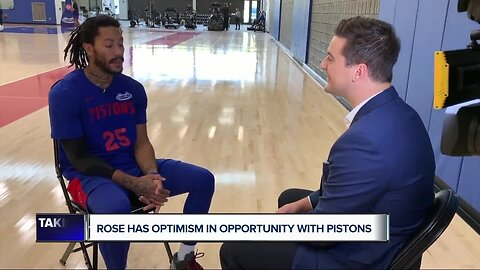 Derrick Rose tells Brad Galli he is optimistic in opportunity with Pistons